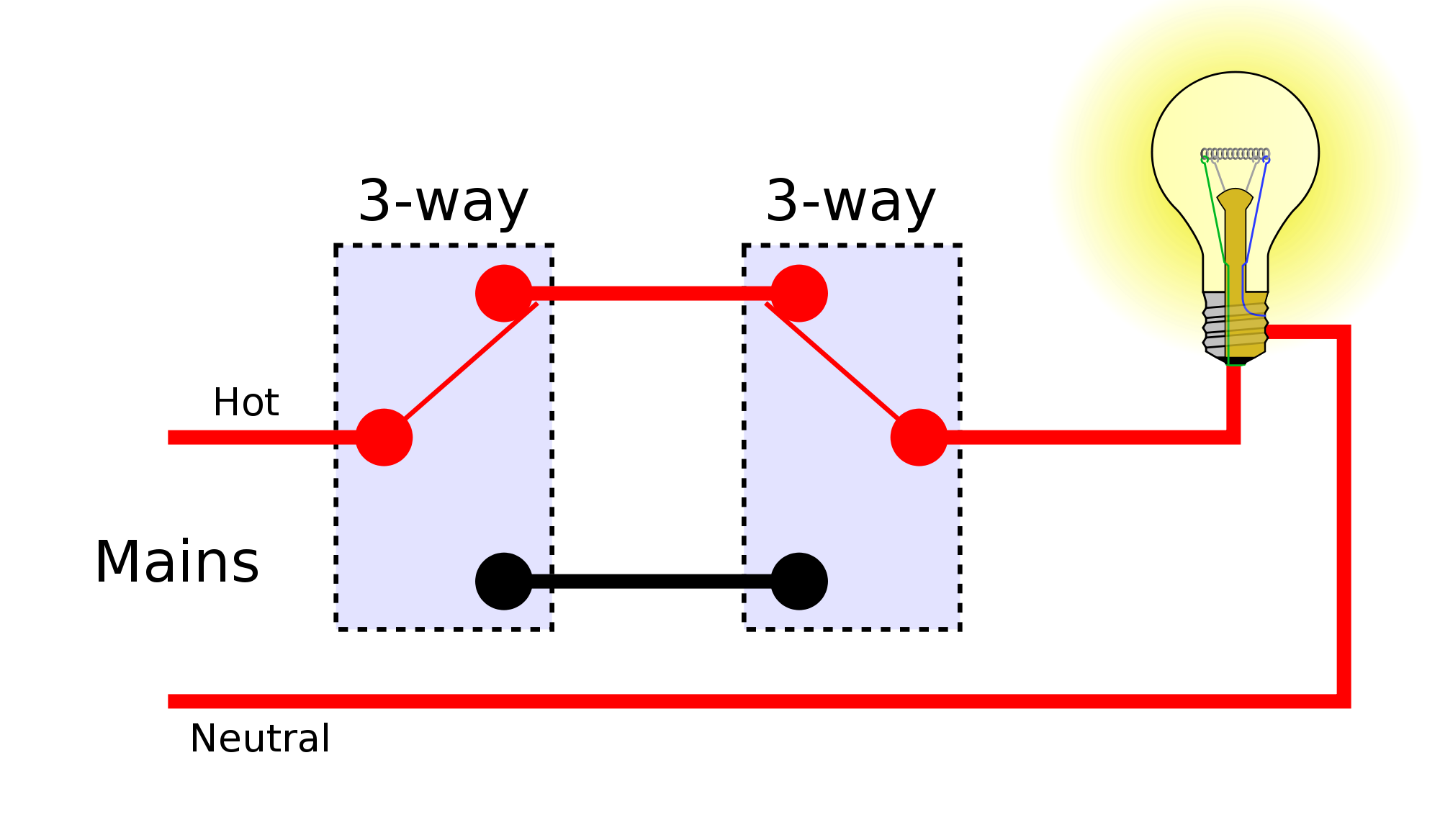 3 Way Switch Does Not Work - Wiring Diagrams •
